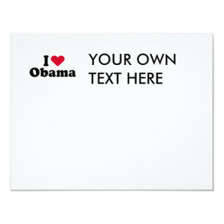 I Heart Obama T-shirt 4.25x5.5 Paper Invitation Card