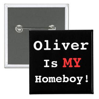 I Heart Oliver! 15 Cm Square Badge