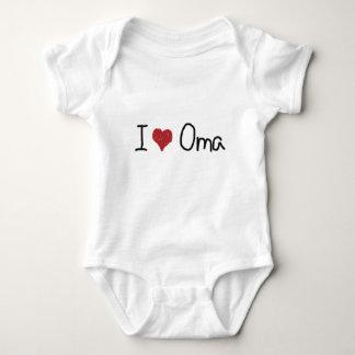 I heart Oma Baby Bodysuit