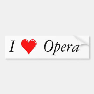I Heart Opera Bumper Sticker