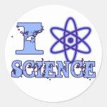 I Heart (or Atomic Symbol) Science Round Sticker