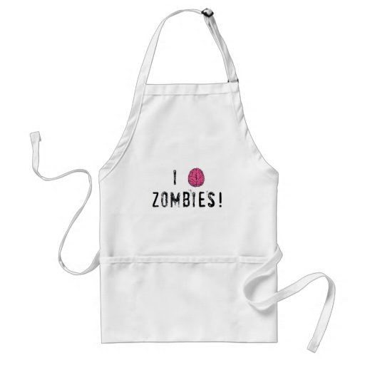 I (heart...or brain!) Zombies Aprons
