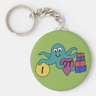 I heart OT round key chain