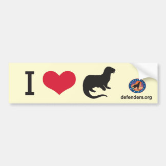 I Heart Otters Bumper Sticker