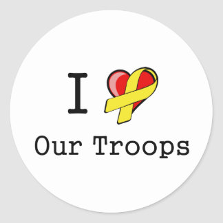 I Heart Our Troops Stickers