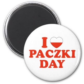 I Heart Paczki Day 6 Cm Round Magnet