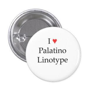 I heart Palatino Linotype 3 Cm Round Badge