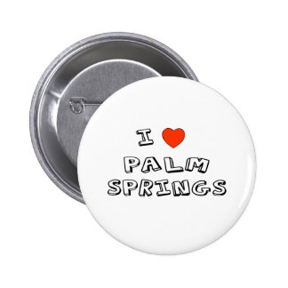 I Heart Palm Springs 6 Cm Round Badge