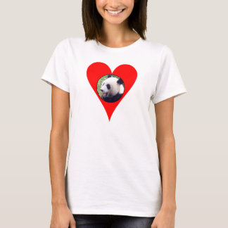 i heart pandas ladies baby doll (fitted) T-Shirt