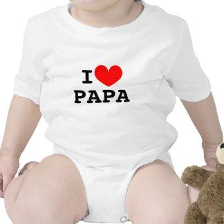I heart papa infant bodysuit | Vintage snapsuits