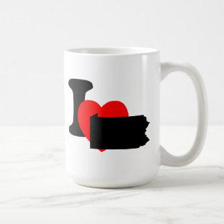 I Heart Pennsylvania Mugs
