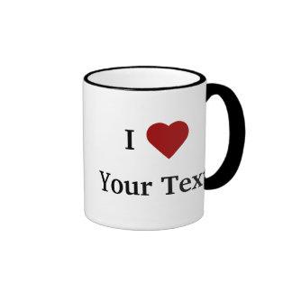 I Heart (personalise) mug