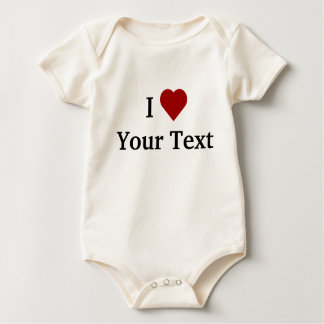 I Heart (personalize) baby   Baby Bodysuit