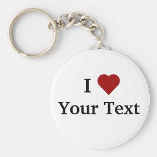 I Heart (personalize) keychain