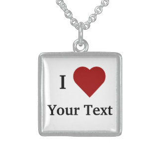 I Heart (Personalize) Necklace