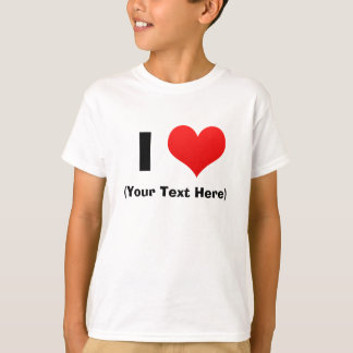 I Heart Personalized T Shirts