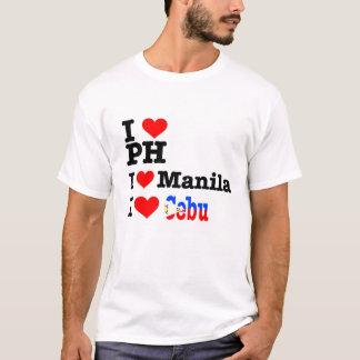 I heart PH, Manila, and Cebu T-Shirt