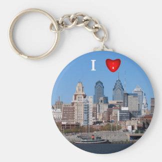 I Heart Philly Skyline, Closeup Key Ring