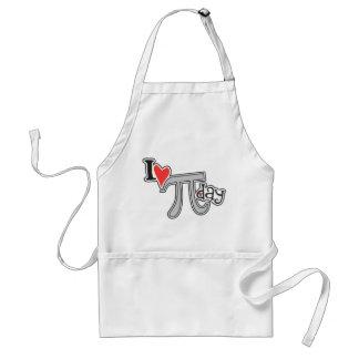I heart Pi Day Adult Apron