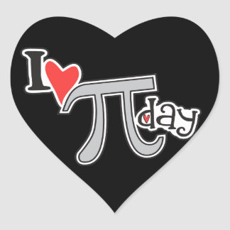 I heart Pi Day - Pi Day Gifts Heart Stickers