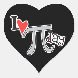 I heart Pi Day Stickers