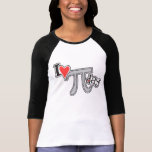 I heart Pi Day TShirt - Cool Pi Apparel Gift