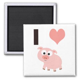 I heart pigs magnet