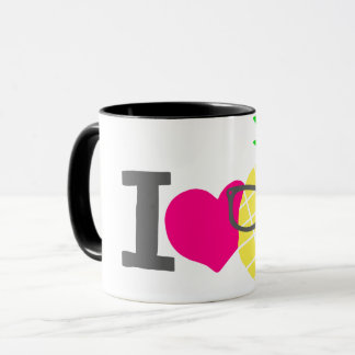 I heart pineapples mug