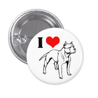 I (heart) Pit Bulls 3 Cm Round Badge