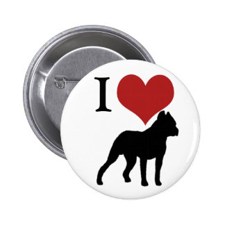 I heart pit bulls pinback buttons