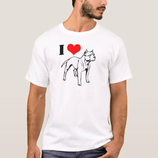 I (heart) Pit Bulls Tshirt