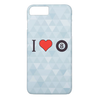 I Heart Playing Billiard iPhone 7 Plus Case