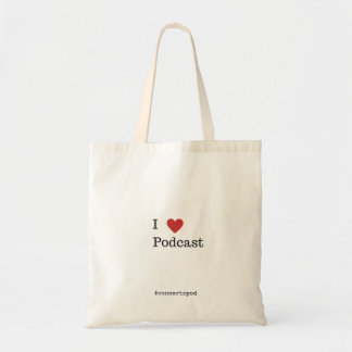 I Heart Podcast Tote