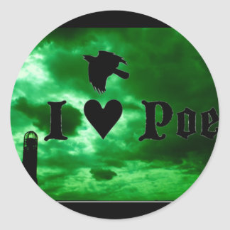 I Heart Poe Classic Round Sticker