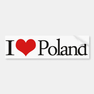 I heart Poland Bumper Sticker