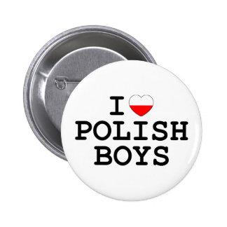 I Heart Polish Boys 6 Cm Round Badge