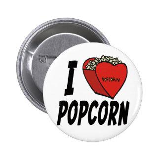 I Heart Popcorn Button