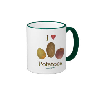 I Heart Potatoes Coffee Mugs