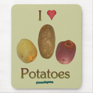 I Heart Potatoes Mouse Pad