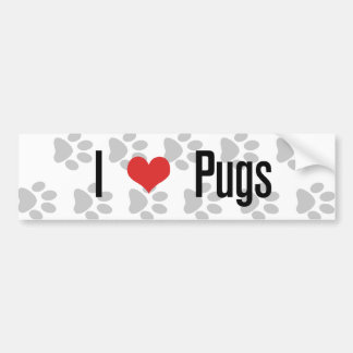 I (heart) Pugs Bumper Sticker