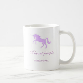 I heart purple unicorns. coffee mug