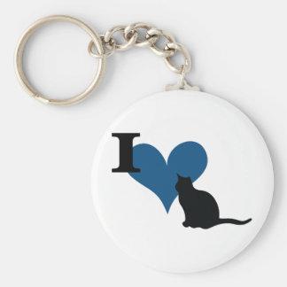 I Heart Pussy Cat Key Chain