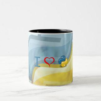 I Heart Python Two-Tone Coffee Mug