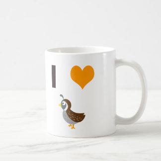 I heart quail coffee mug