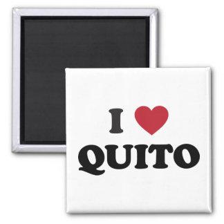 I Heart Quito Ecuador Square Magnet