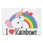 I Heart Rainbows iPad Mini Cover