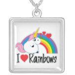 I Heart Rainbows Necklaces