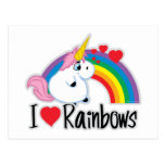 I Heart Rainbows Postcard