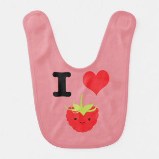 I Heart Rasberries Baby Bibs