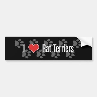 I (heart) Rat Terriers Bumper Sticker
